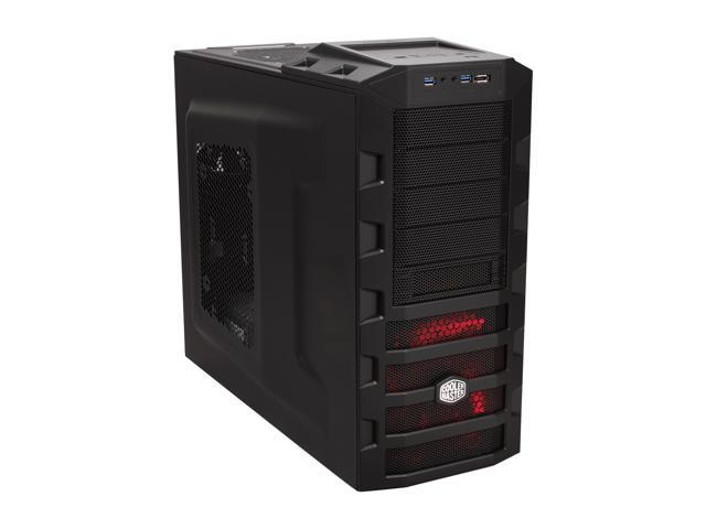 Cooler Master HAF 922 - High Air Flow Mid Tower Computer Case with USB 3.0 and All-Black Interior