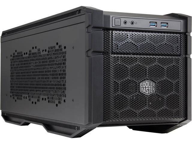 Cooler Master HAF Stacker 915F Mini-ITX Computer Case - Supports Large CPU Air Coolers (Front PSU Mount)