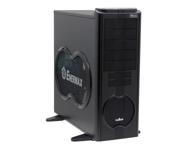ENERMAX Uber Chakra ECA5001B Black Aluminum / Steel Trim w/250mm Intake/Exhaust LED Monster Fan ATX Full Tower Case w/Front I/O 1 eSATA, 4 USB2.0, Audio I/O