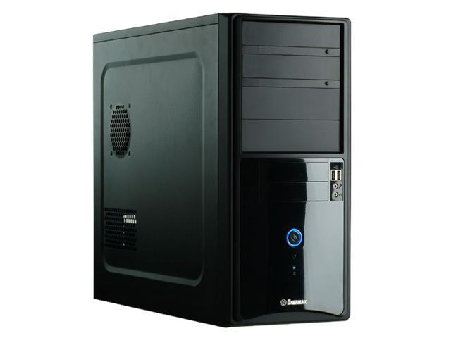 ENERMAX VOSTOK ECA3120B Black 0.5mm SECC Steel ATX Mid Tower Computer Case w/Piano Coating, 400W Power Supply and Front I/O 2 USB2.0 & Audio I/O Ports