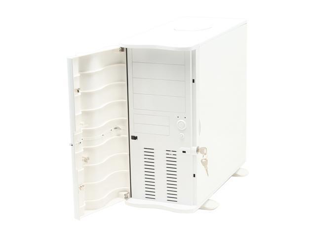 Thermaltake Soprano VB1000WWS White 0.8 mm SECC Chassis Plastic Front Door ATX Mid Tower Computer Case