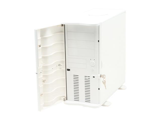 Thermaltake Soprano VB1000WNS White Steel / Plastic ATX Mid Tower Computer Case