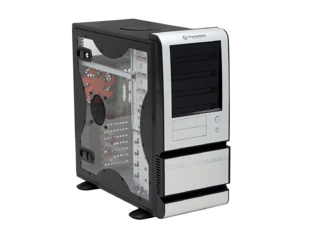 Thermaltake Bach VX VF4000BWS Black/ Silver 0.8mm SECC Chassis/ Aluminum Front Bezel ATX Mid Tower Computer Case