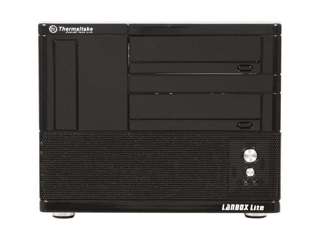 Thermaltake Black SECC Japanese steel LANBOX Lite VF6000BNS Micro ATX Media Center / HTPC Case