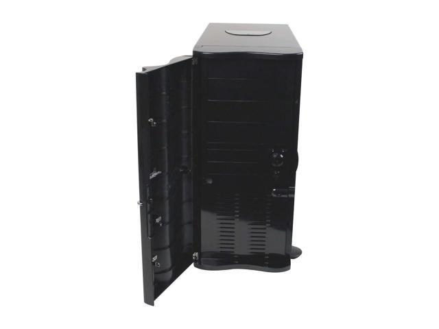 Thermaltake SOPRANO VB1000BWS Black 0.8mm SECC Chassis, Plastic Front Door ATX Mid Tower Computer Case