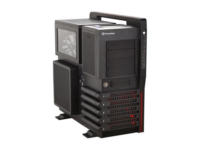Thermaltake Level 10 GT (VN10001W2N) Black SECC / Plastic ATX Full Tower Computer Case with Four Fans - 1 x 200mm Colorshift side fan, 1 x 200mm top fan, 1 x 200mm front fan and 1 x 140mm rear fan