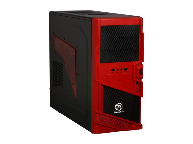 Thermaltake Commander MS-I Epic Edition Black / Red SECC ATX Mid Tower Computer Case