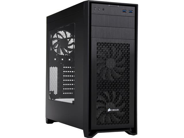 Corsair Obsidian Series 450D Black Brushed Aluminum and Steel ATX Mid Tower Gaming Computer Case