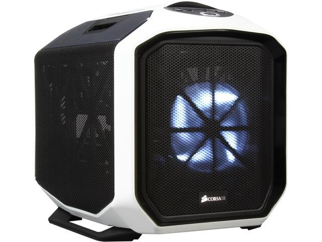 Corsair Graphite Series CC-9011060-WW White Steel / Plastic Mini-ITX 380T Portable Mini ITX Case