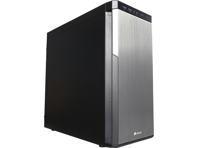 Corsair Carbide Series 330R Titanium Edition (CC-9011071-WW) Black Steel ATX Mid Tower Silent MId-Tower Case Compatible with ATX Power Supply