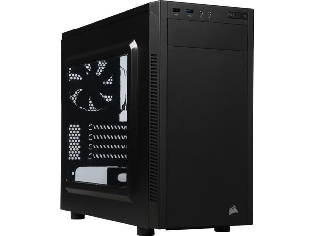 Corsair Carbide Series 88R (CC-9011086-WW) Black Steel MicroATX Mid Tower MicroATX Mid-Tower Case Compatible with ATX Power Supply