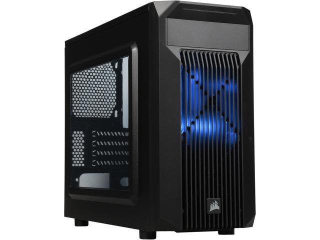 Corsair Carbide Series SPEC-M2 (CC-9011087-WW) Black Steel Micro ATX MicroATX Gaming Case Compatible with ATX (not included) Power Supply