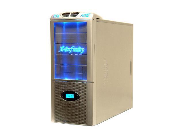 APEVIA X-Infinity ATXB6KLW-AL Silver Steel ATX Mid Tower Computer Case ATX 350W power supply for AMD/Intel Power Supply