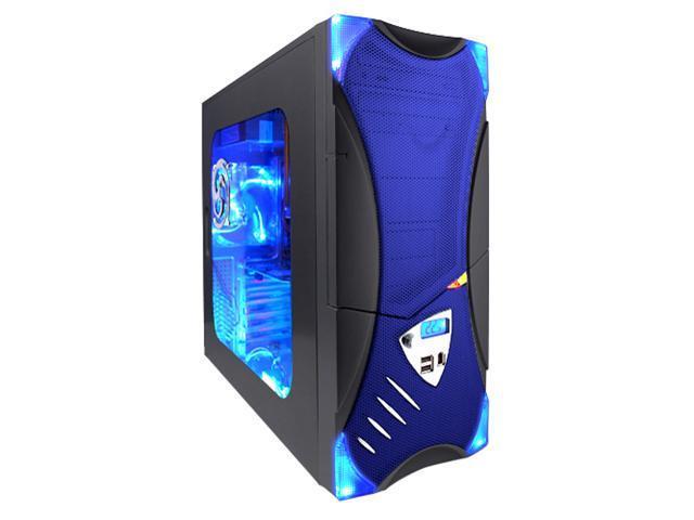 APEVIA X-Plorer ATXB8KLW-BL Black/Blue Steel ATX Mid Tower Computer Case
