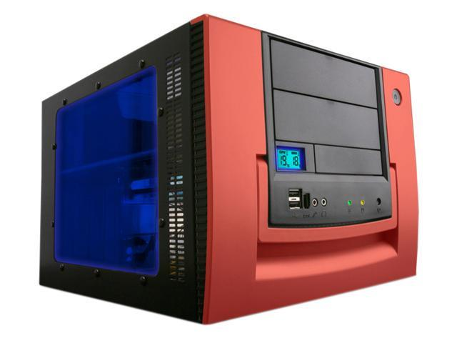 APEVIA X-QPACK-RD/420 Black/Red Aluminum 1.0 w/ ABS plastic front panel MicroATX Desktop Computer Case 420W Power Supply