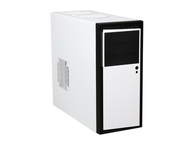 "NZXT Source 210 S210-002 White w/Black Front Trim ""Aluminum Brush / Plastic"" ATX Mid Tower Computer Case"