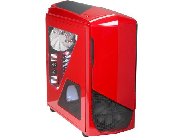 NZXT Phantom 530 Red ATX Full Tower Computer Case Includes 1 x 200mm Front, 1 x 140mm Rear 2 x USB 3.0 Fan Controller