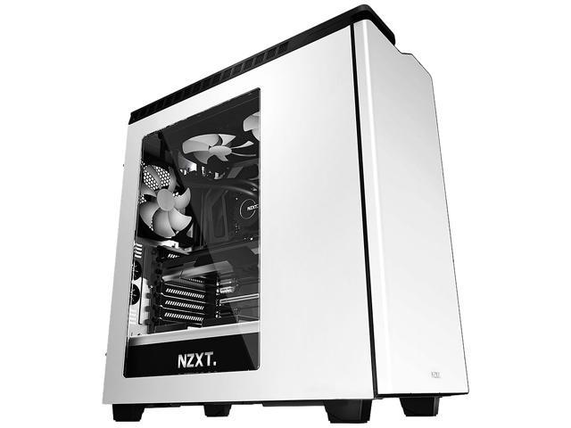 NZXT RB-CA-H440W-W1 Black/White Steel / Plastic Computer Case