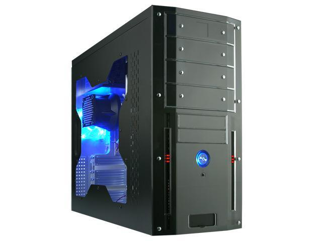 Rosewill TU-155 Black 0.8mm SGCC Steel ATX Mid Tower Computer Case with 400W(20+4 pin) Power Supply