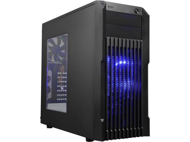 Rosewill Stryker M, ATX Mid Tower Gaming Computer Case, Support 240 mm Liquid Cooling, Support up to 390 mm long Graphics Card, Support up to 6 Fans, Removable HDD Cage