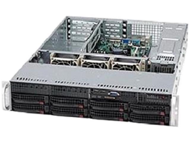 SUPERMICRO CSE-825TQ-563UB Black 2U Rackmount Server Case