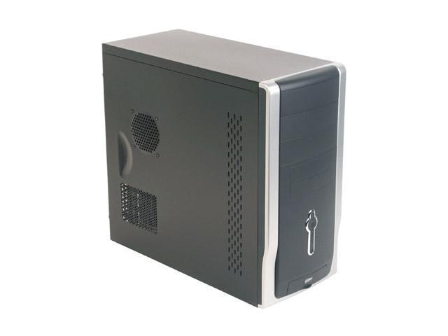 APEX SQ-328 Black/Silver Steel ATX Mid Tower Computer Case ATX12V 350W Power Supply