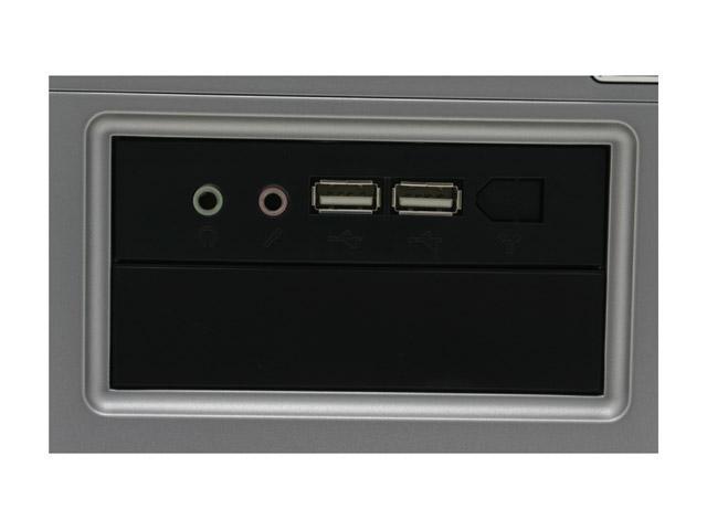 APEX TX-346 Black/Silver Steel ATX Mini Tower Computer Case ATX12V 300W Intel & AMD Listed Power Supply