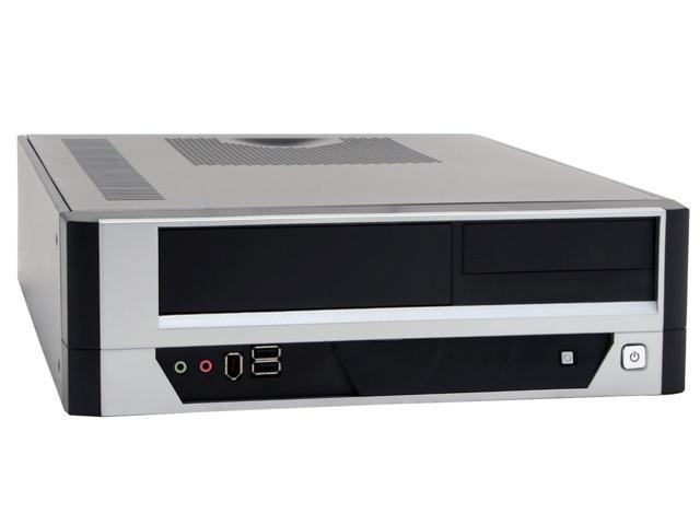 APEX DM-317-A Black/ Silver Steel Micro ATX Media Center / Slim HTPC Computer Case w/ ATX12V Flex 275W Power Supply