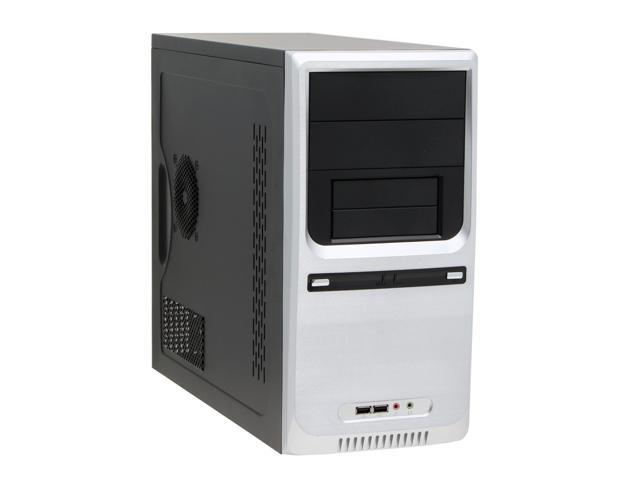 APEX TX-380 Silver Steel MicroATX Mid Tower Computer Case 300W Power Supply