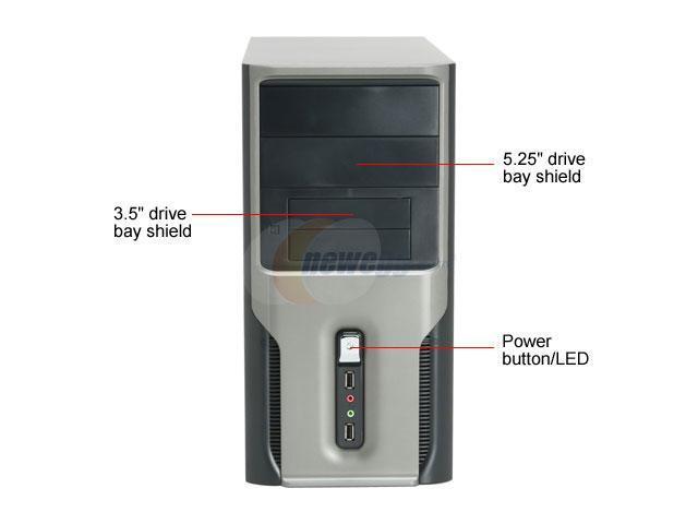 APEX TX-388 Black Steel MicroATX Mid Tower Computer Case 300W Power Supply