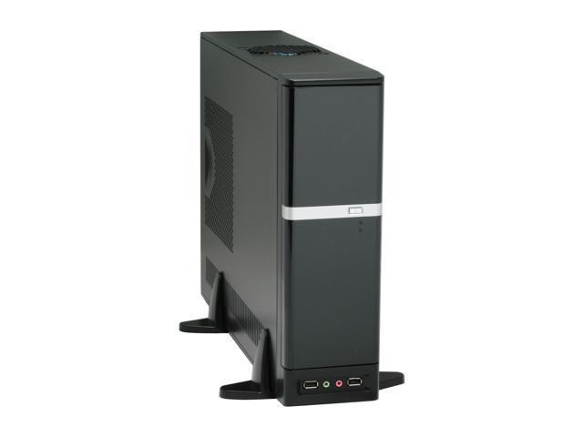 APEX DM-387 Black Steel Micro ATX Media Center / Slim HTPC Computer Case w/ ATX12V Flex 275W Power Supply