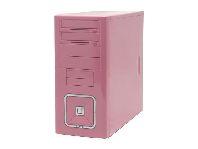 RAIDMAX O² ATX-302KP Pink Steel ATX Mid Tower Computer Case 420W Power Supply