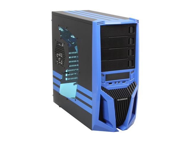 RAIDMAX Blade ATX-298WU Black/Blue Steel / Plastic ATX Mid Tower Computer Case