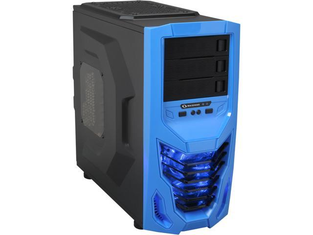 RAIDMAX Cobra ATX-502WUU Black with Blue front panel Steel / Plastic ATX Mid Tower Computer Case