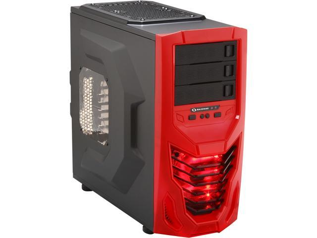 RAIDMAX Cobra ATX-502WRR Black with Red front panel Steel / Plastic ATX Mid Tower Computer Case