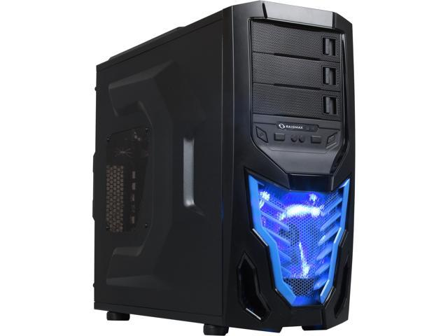RAIDMAX Cobra Z ATX-502WBU Black/Blue Steel / Plastic ATX Mid Tower Computer Case