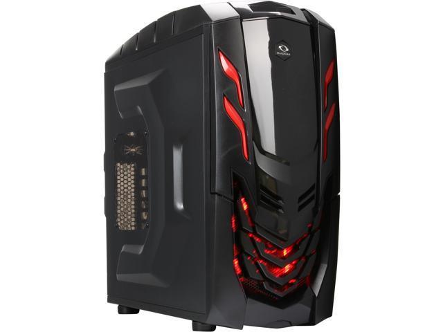 RAIDMAX Viper GX ATX-512WBR Black/Red Steel / Plastic ATX Mid Tower Computer Case