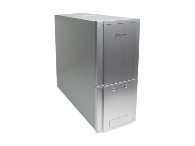 SilverStone Temjin Series TJ-03 SLVR Silver Aluminum ATX Full Tower Computer Case