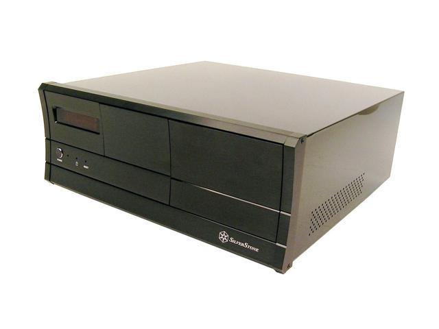 SilverStone Lascala Series LC03V Black Aluminum front panel, 1.0mm SECC body ATX Desktop Computer Case
