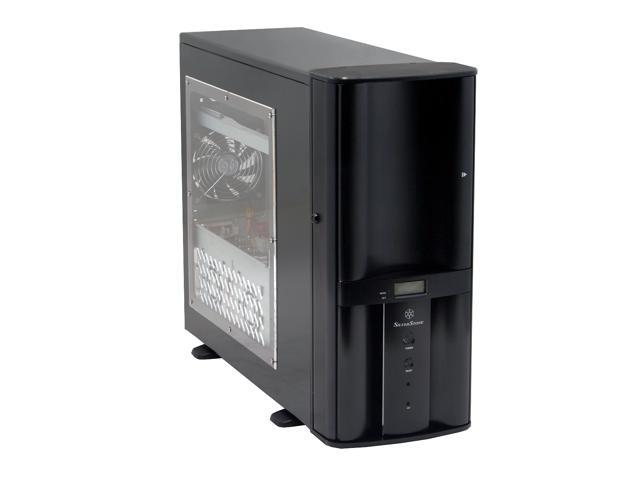 SilverStone Temjin Series TJ05B-X Black Aluminum front panel, 0.8mm SECC body ATX Mid Tower Computer Case