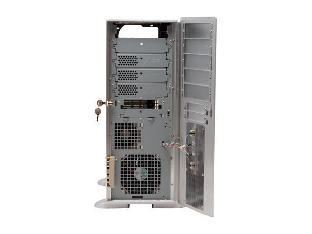 SilverStone TEMJIN TJ06S-W Silver Aluminum front panel, 0.8mm SECC body ATX Full Tower Computer Case