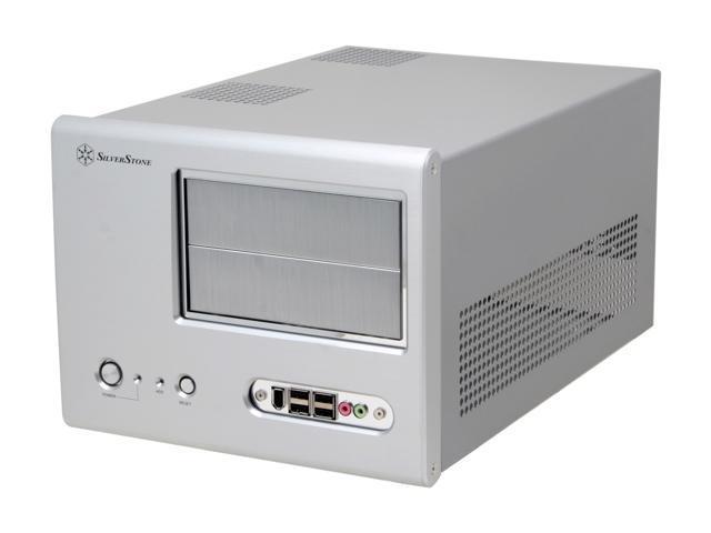 SilverStone Sugo Series SG01-S Silver Aluminum MicroATX Desktop Computer Case - OEM