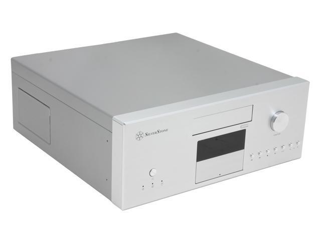 SILVERSTONE Silver Aluminum front panel, 0.8 mm SECC body Lascala Series LC16S-M ATX Media Center / HTPC Case
