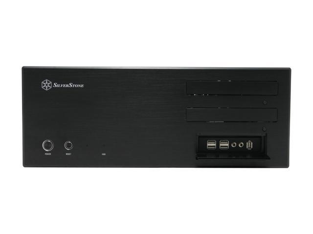 SILVERSTONE Black Aluminum front panel, 0.8 mm SECC body Lascala Series LC17-B ATX Media Center / HTPC Case