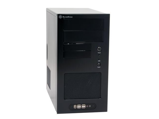 SilverStone Temjin Series TJ08-B Black Aluminum front panel, SECC body MicroATX Mid Tower Computer Case