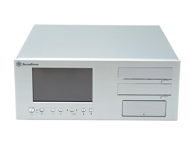 SILVERSTONE Silver Aluminum front panel, 1.5mm aluminum body Lascala Series LC18-S ATX Media Center / HTPC Case