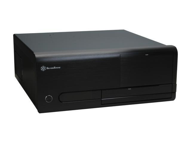 SILVERSTONE Black Aluminum front panel, 0.8 mm SECC body Lascala Series LC20-B ATX Media Center / HTPC Case