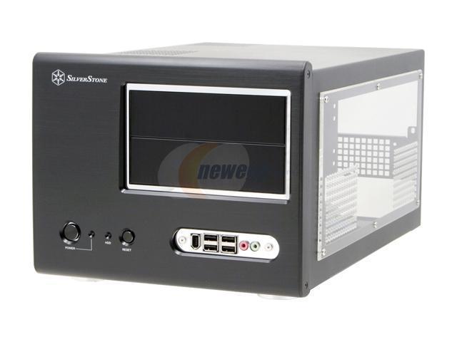 SilverStone Sugo Series SG01-BW Black Aluminum MicroATX Desktop Computer Case