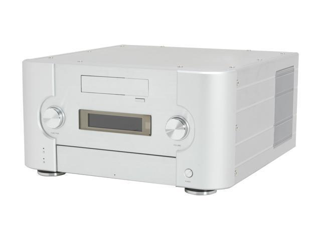 SILVERSTONE Silver Aluminum Crown Series CW02S-MXR ATX Media Center / HTPC Case