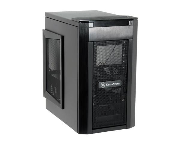 SilverStone Sugo Series SG03-B Black Aluminum MicroATX Mid Tower Computer Case